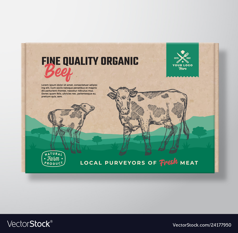 Fine quality organic beef meat packaging