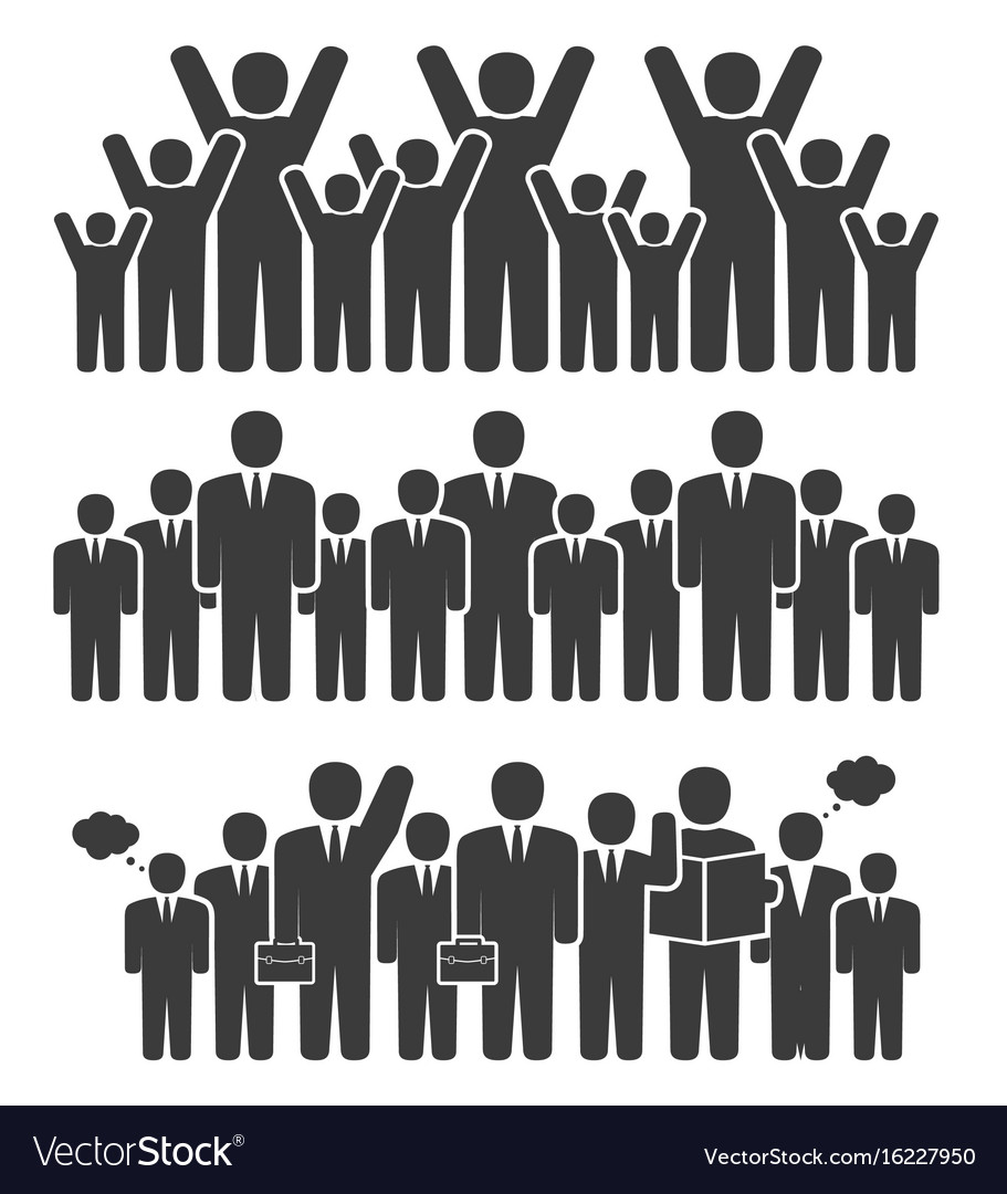 Group of business people in a standing position vector image