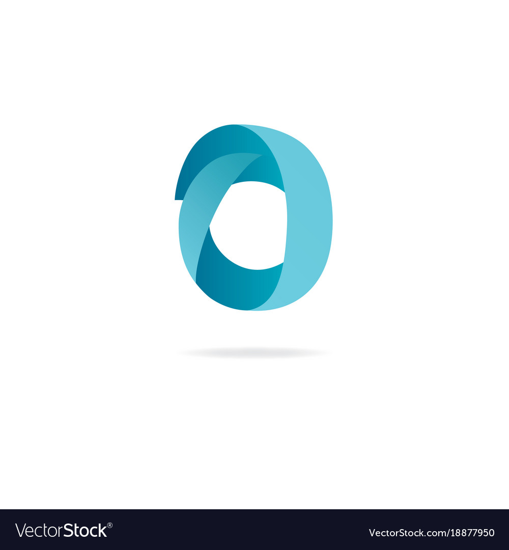 letter o logo design template elements ribbon vector image