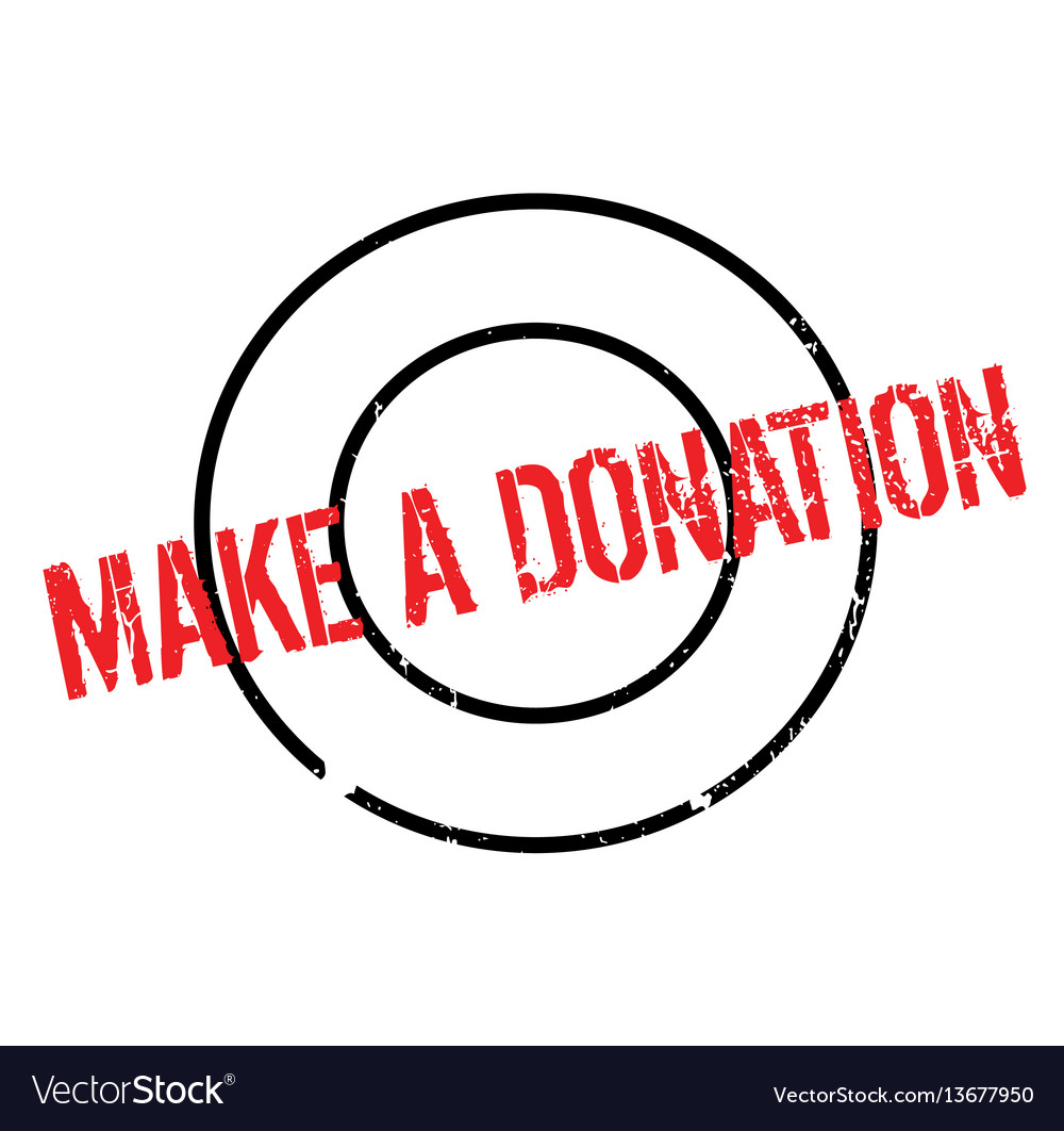 Make a donation rubber stamp