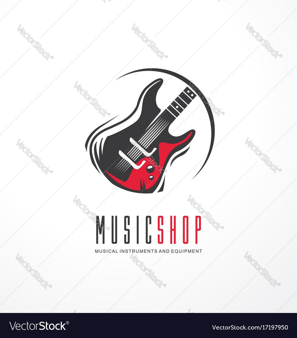 Music shop logo design concept