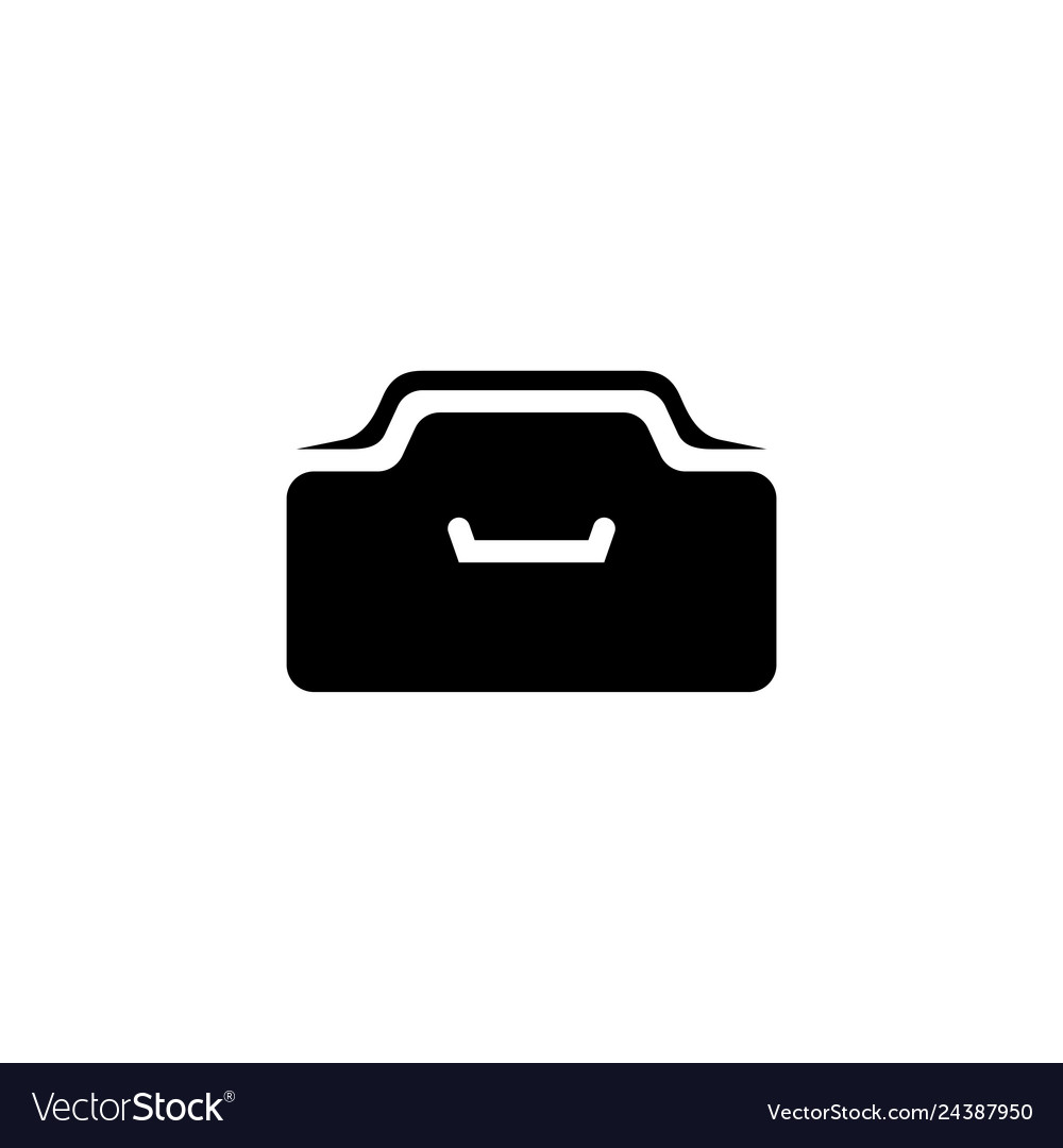 Office drawer flat icon