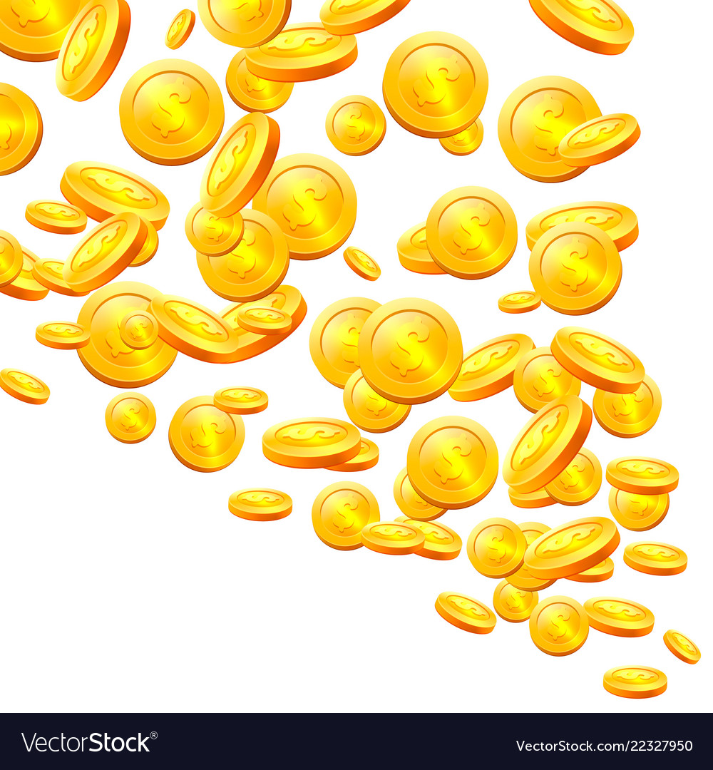 Stacks coins on white background