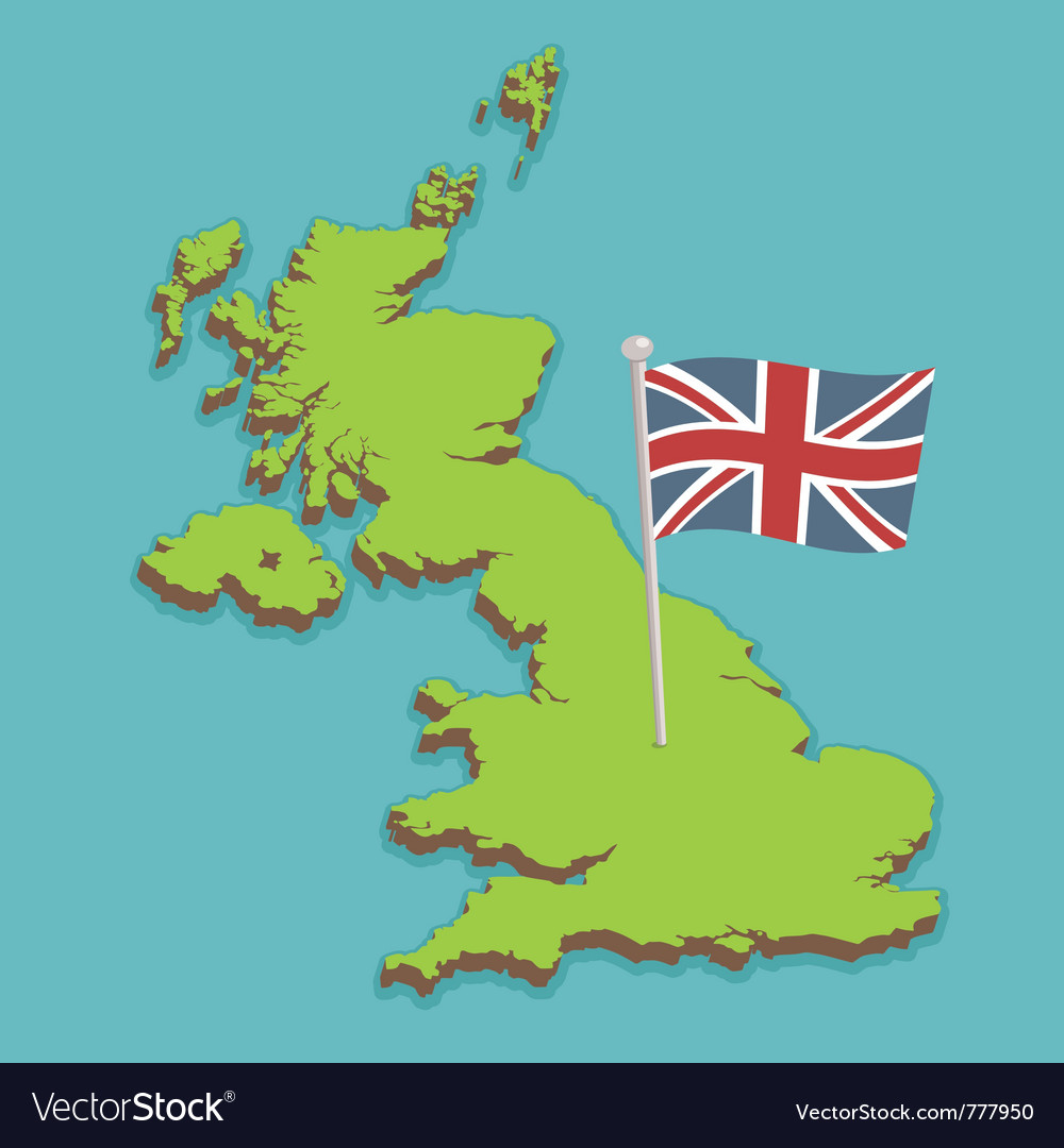 The United Kingdom Map United kingdom map Royalty Free Vector Image   VectorStock The United Kingdom Map