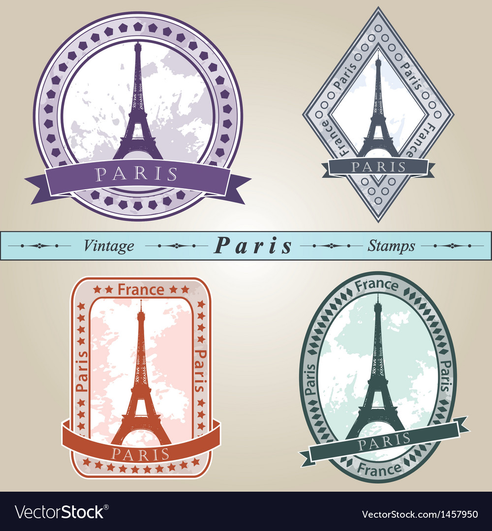 Vintage stamp paris