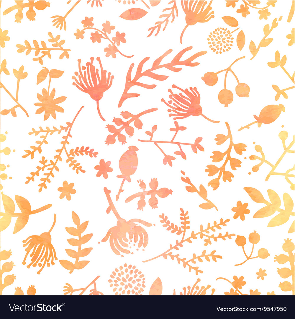 Watercolor Floral Pattern Royalty Free Vector Image