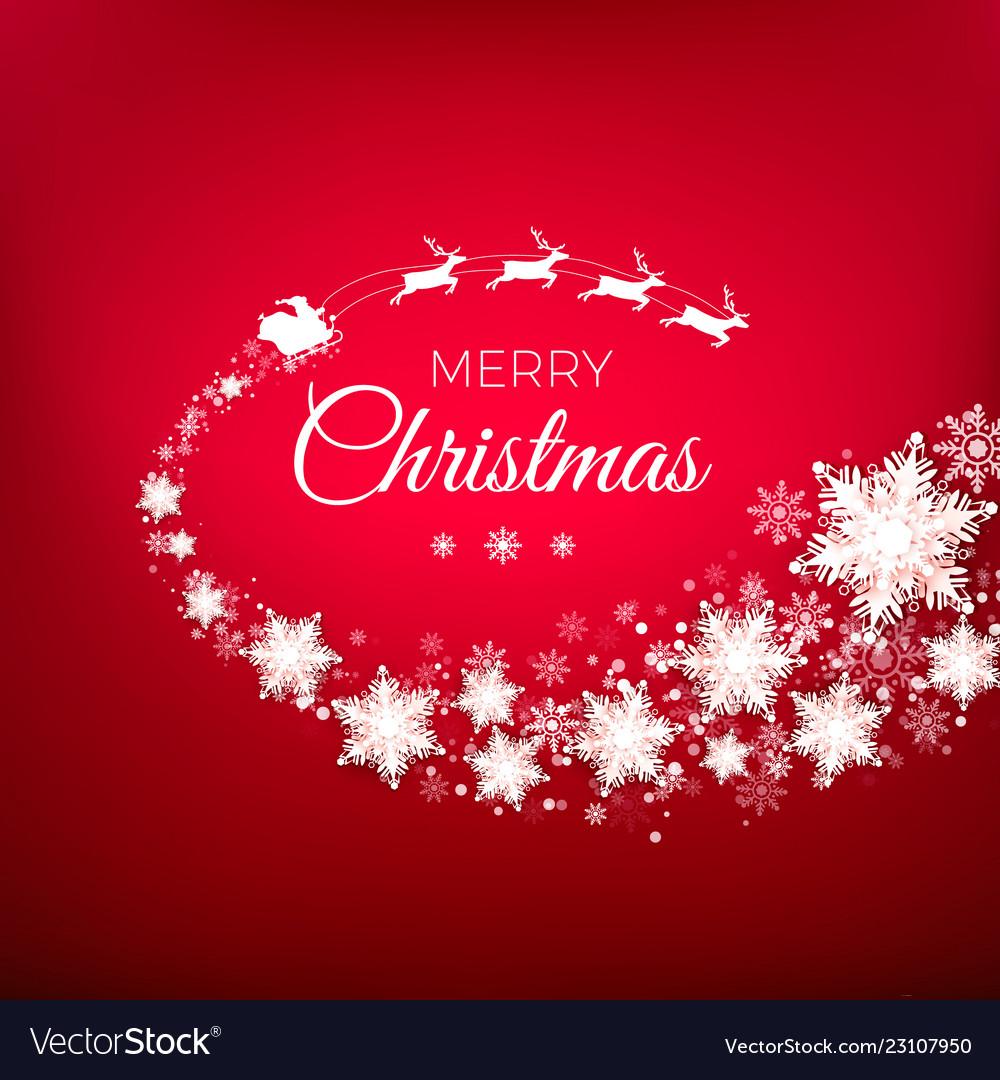 White silhouette flying santa claus