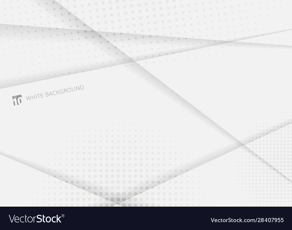 Abstract geometric with shadow white and gray
