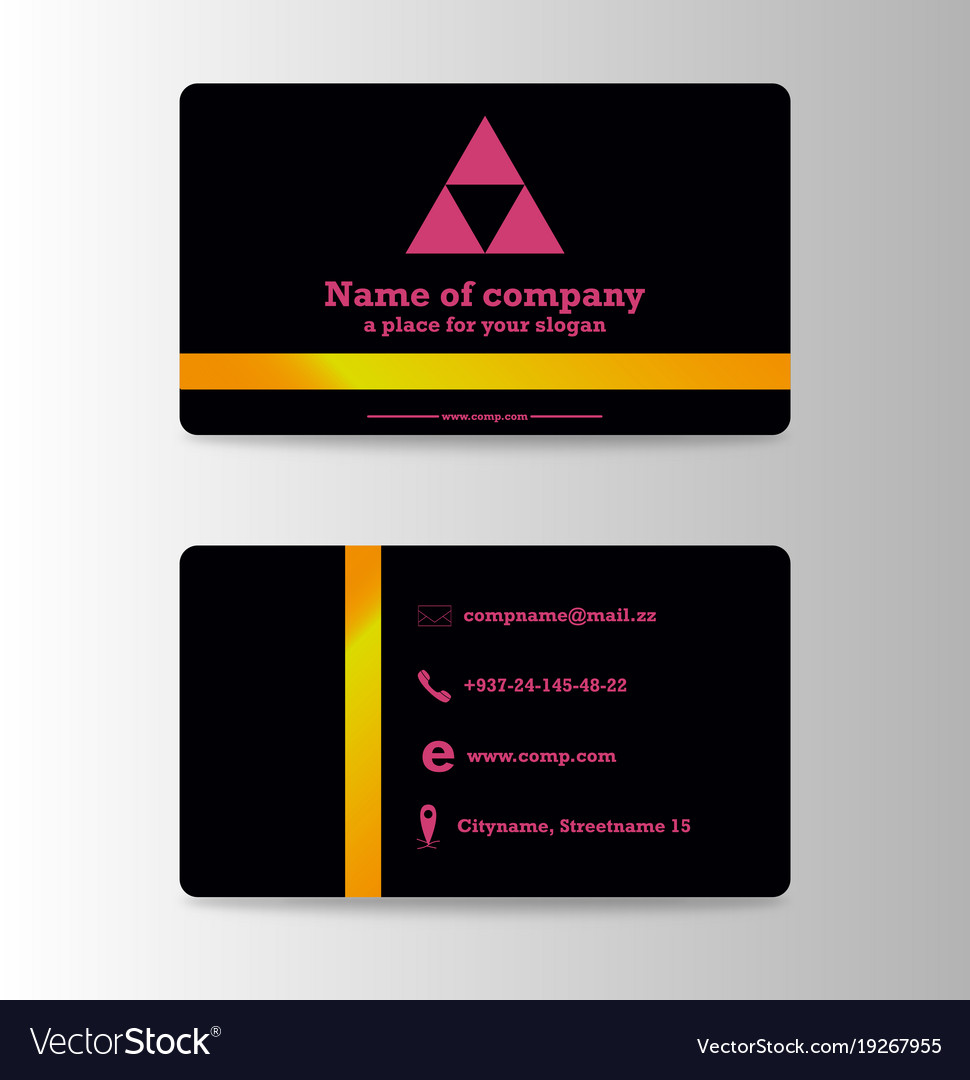 Business Card Background Design With Logo Vector Image