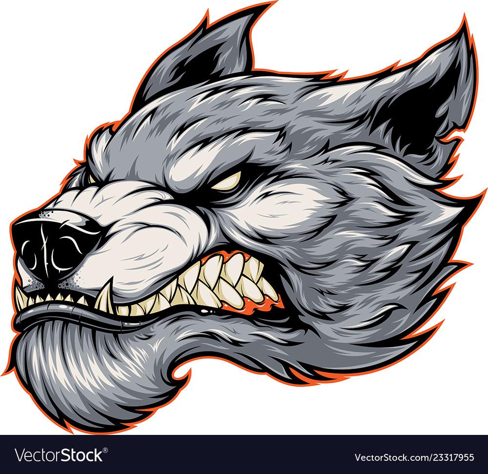 Head a fierce werewolf wolf