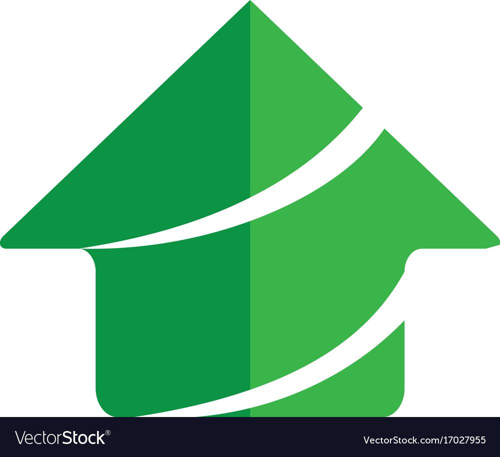 Home business finance building logo vector image