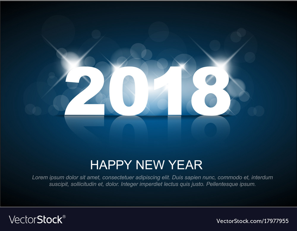 new year 2018 card template vector image