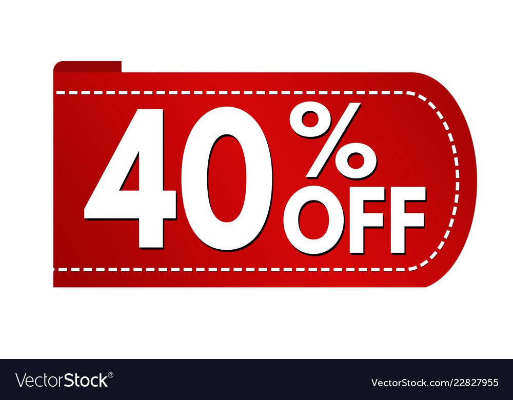 Special offer 40 off banner design