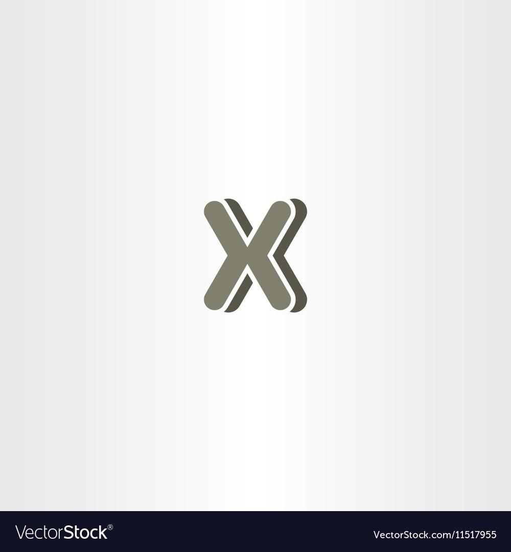 X letter logo logotype icon symbol company sign vector image