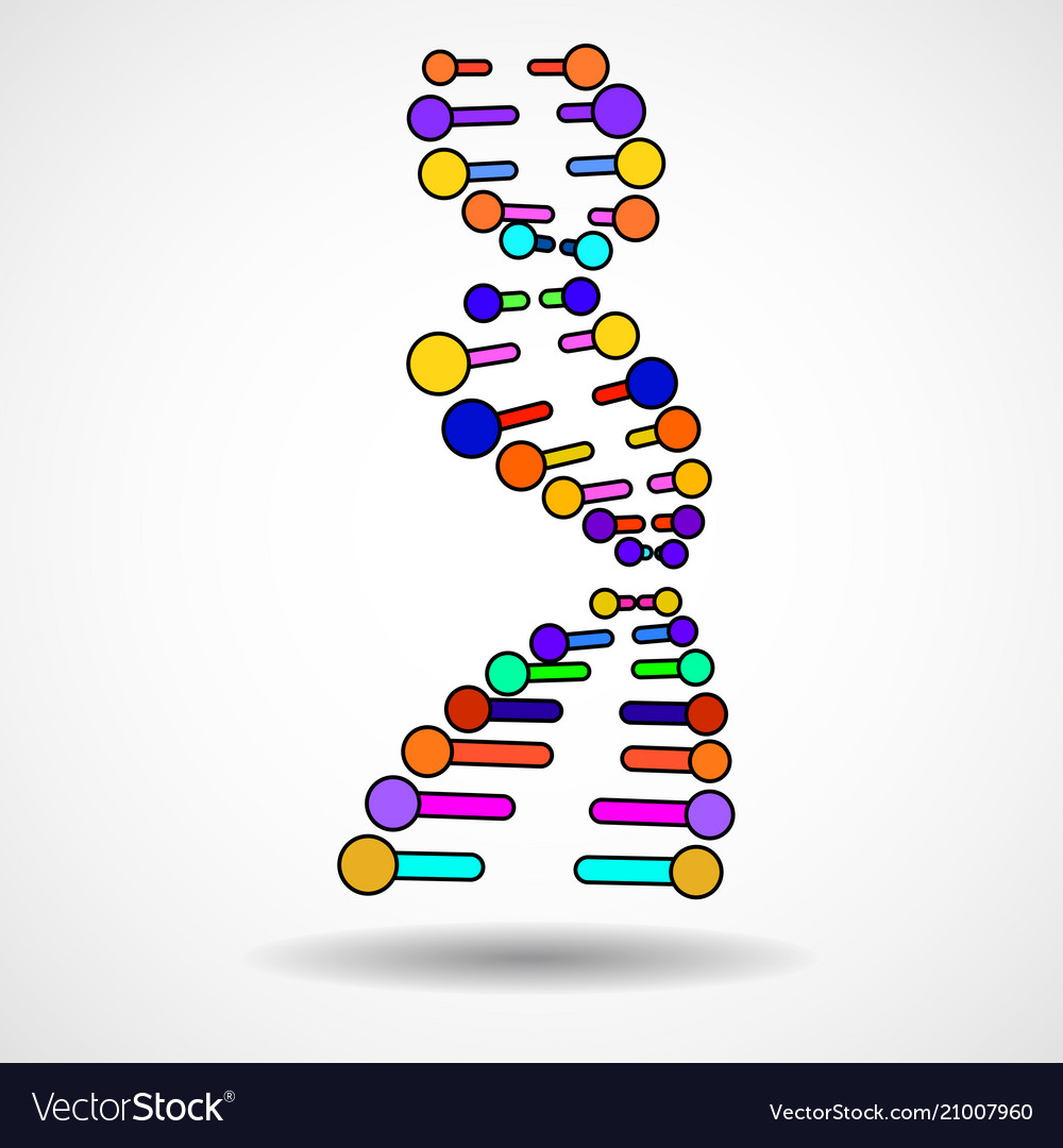 Abstract spiral of dna stylish molecule