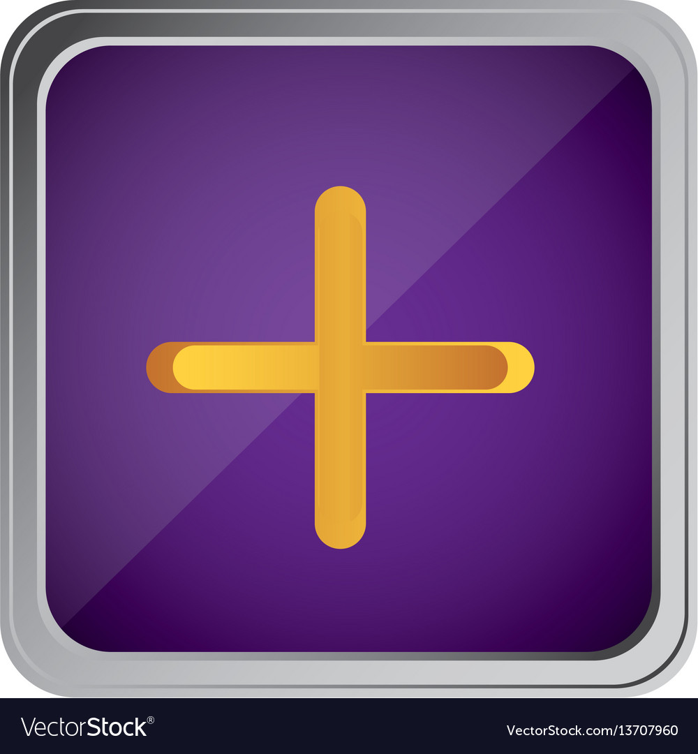 Button volume plus with background purple