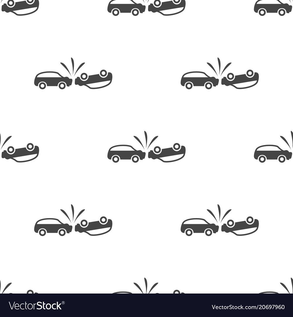 Car crash seamless pattern