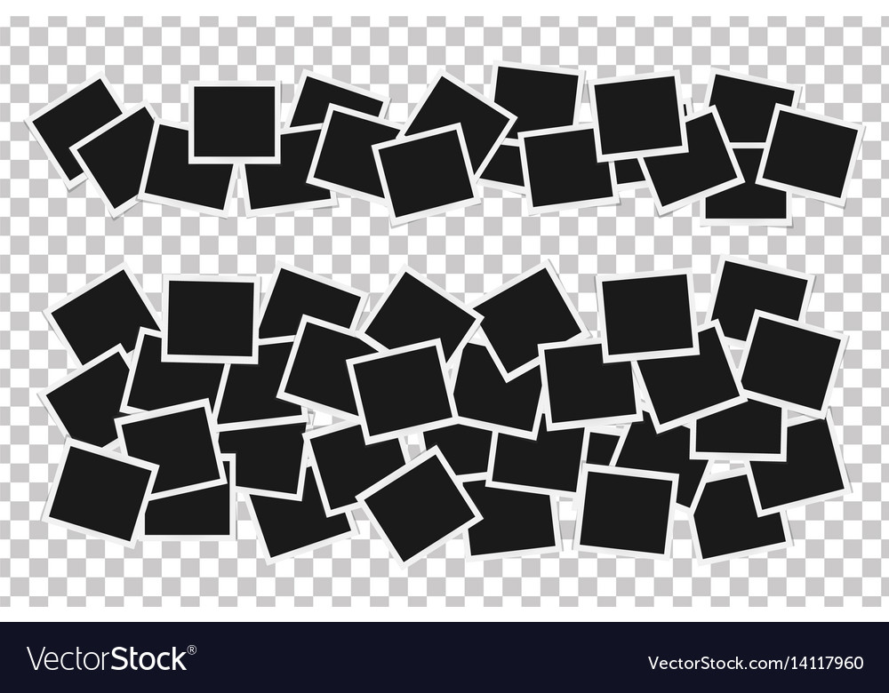 Collage of realistic frames isolated template Vector Image