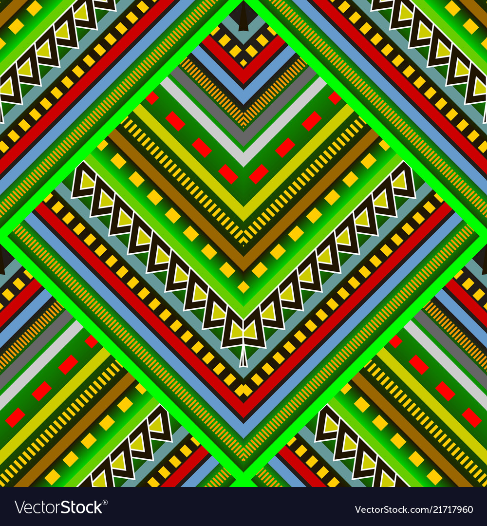 Colorful striped tribal seamless pattern