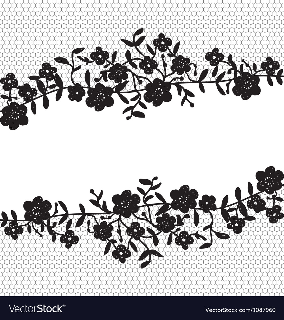 floral lace border royalty free vector image vectorstock rh vectorstock com gold lace border vector gold lace border vector