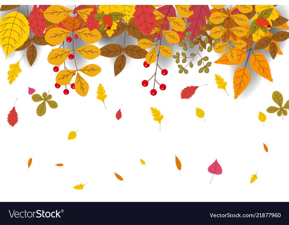 Hello autumn discount season background with