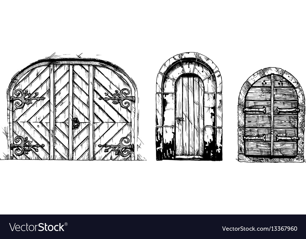 Middle age vintage doors