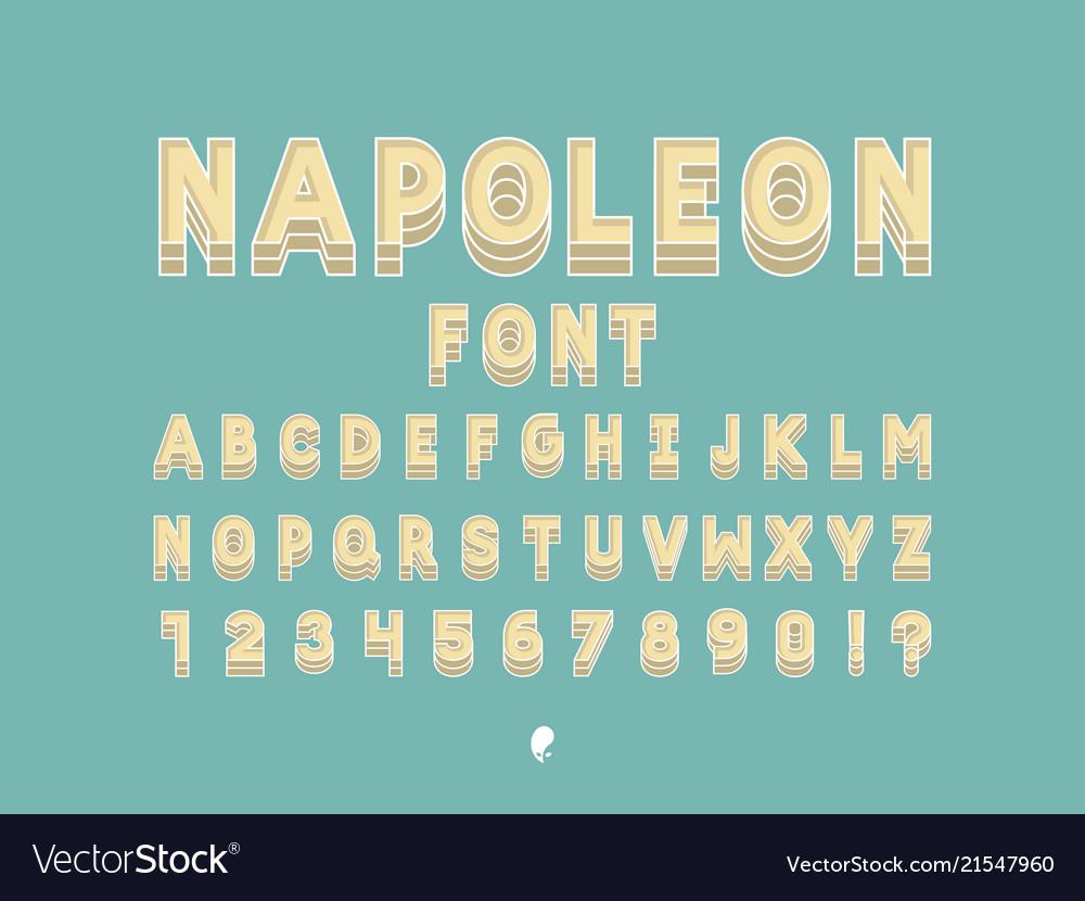 Napoleon font alphabet