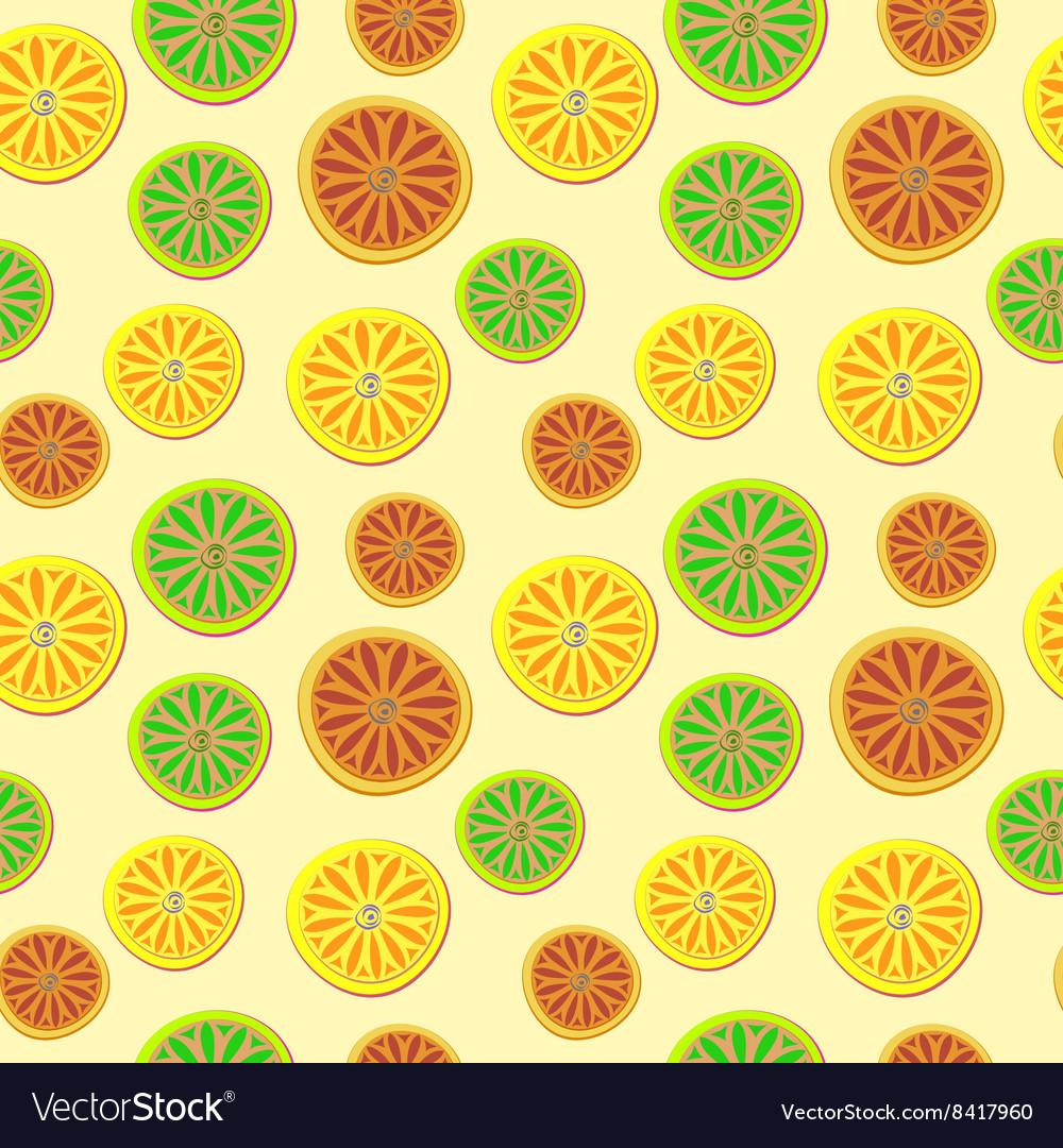 Orange lemon lime pattern hand draw pattern
