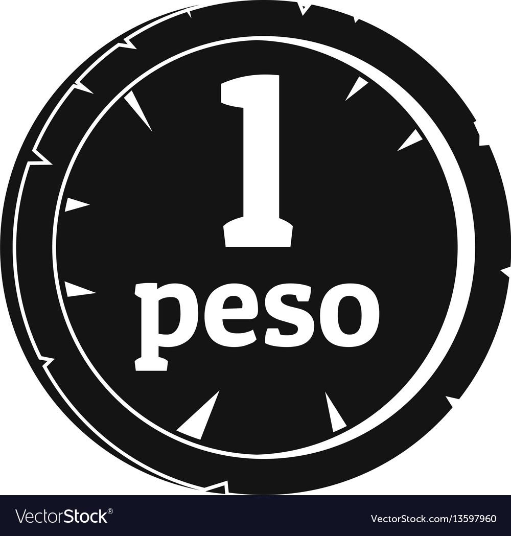 Peso icon simple style vector image