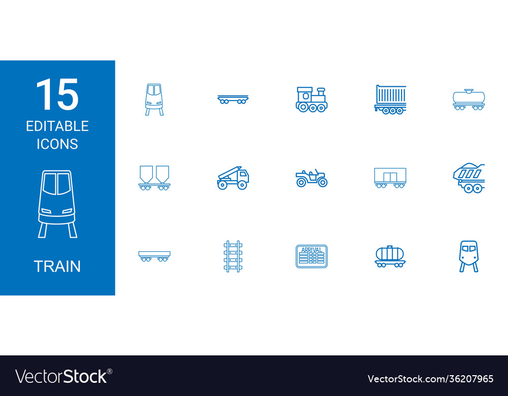 15 train icons