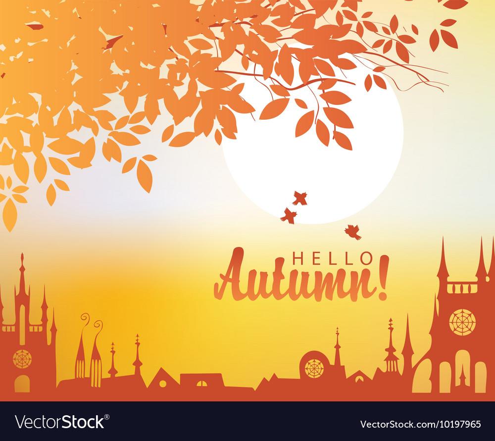 Autumn town landscape