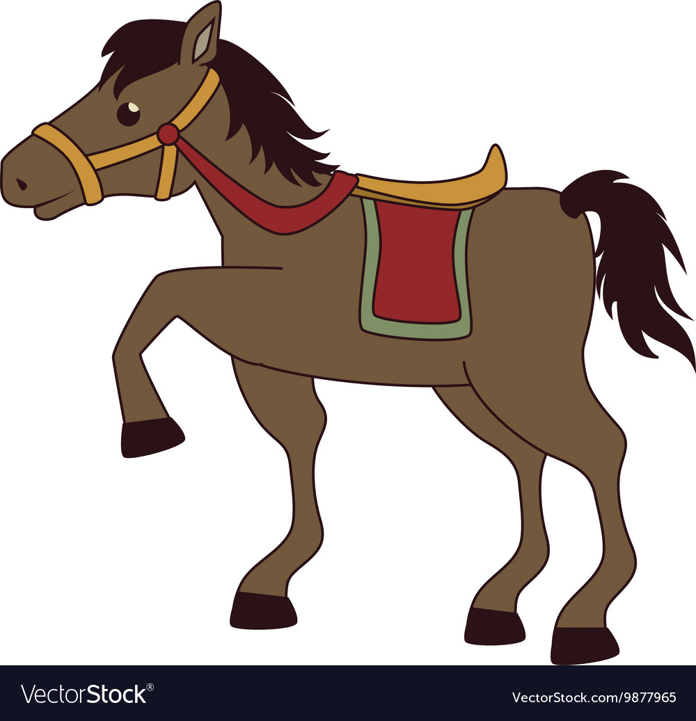 horse saddle cartoon royalty free vector image rh vectorstock com Horse Saddle Drawing Hi Resolution Horse Saddle