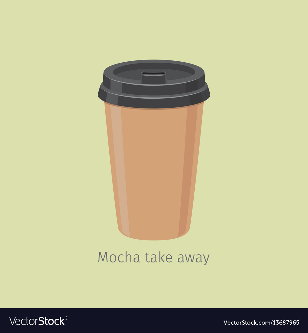 Mocha take away coffee in paper cup