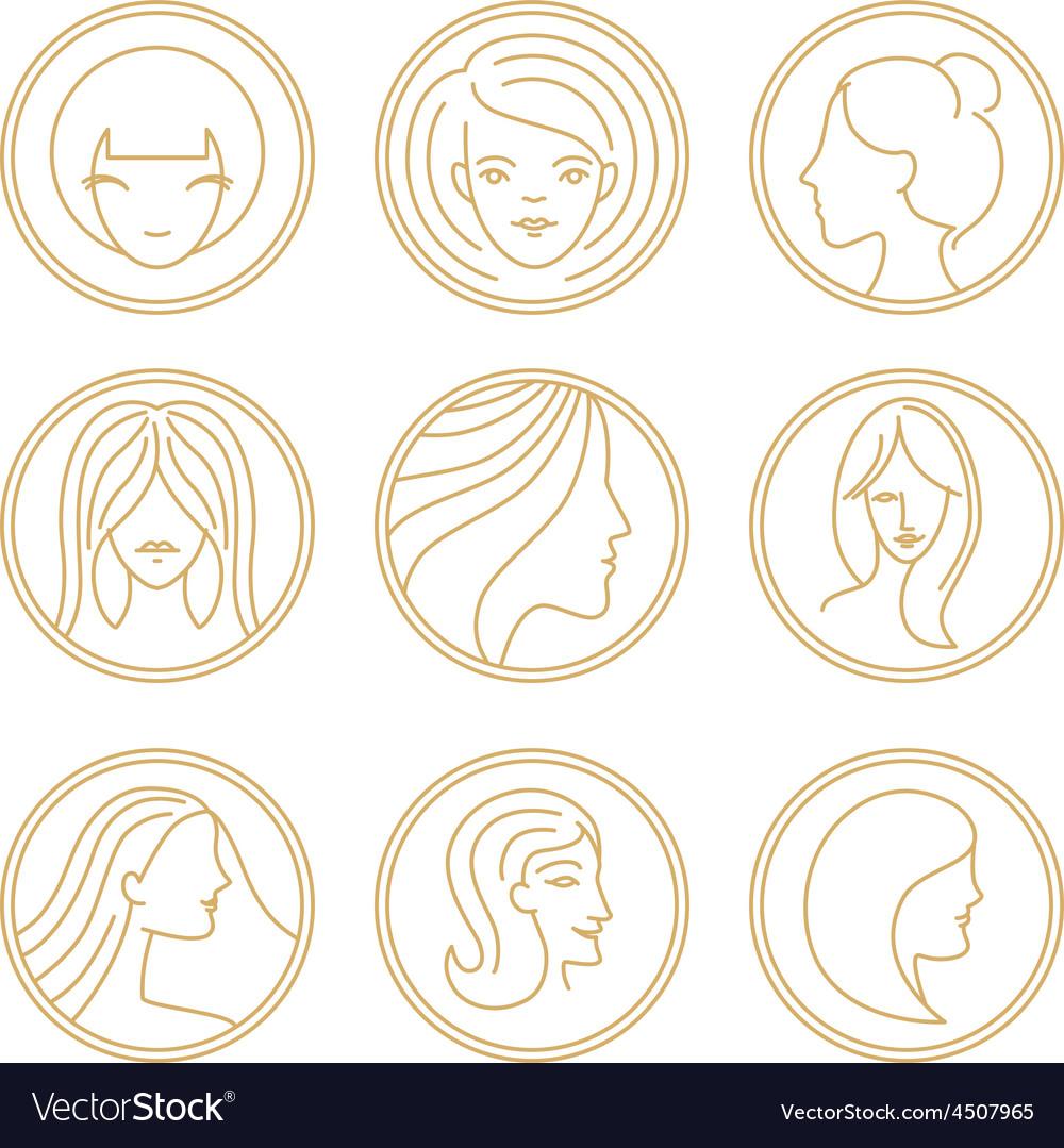 Womens logo design elements