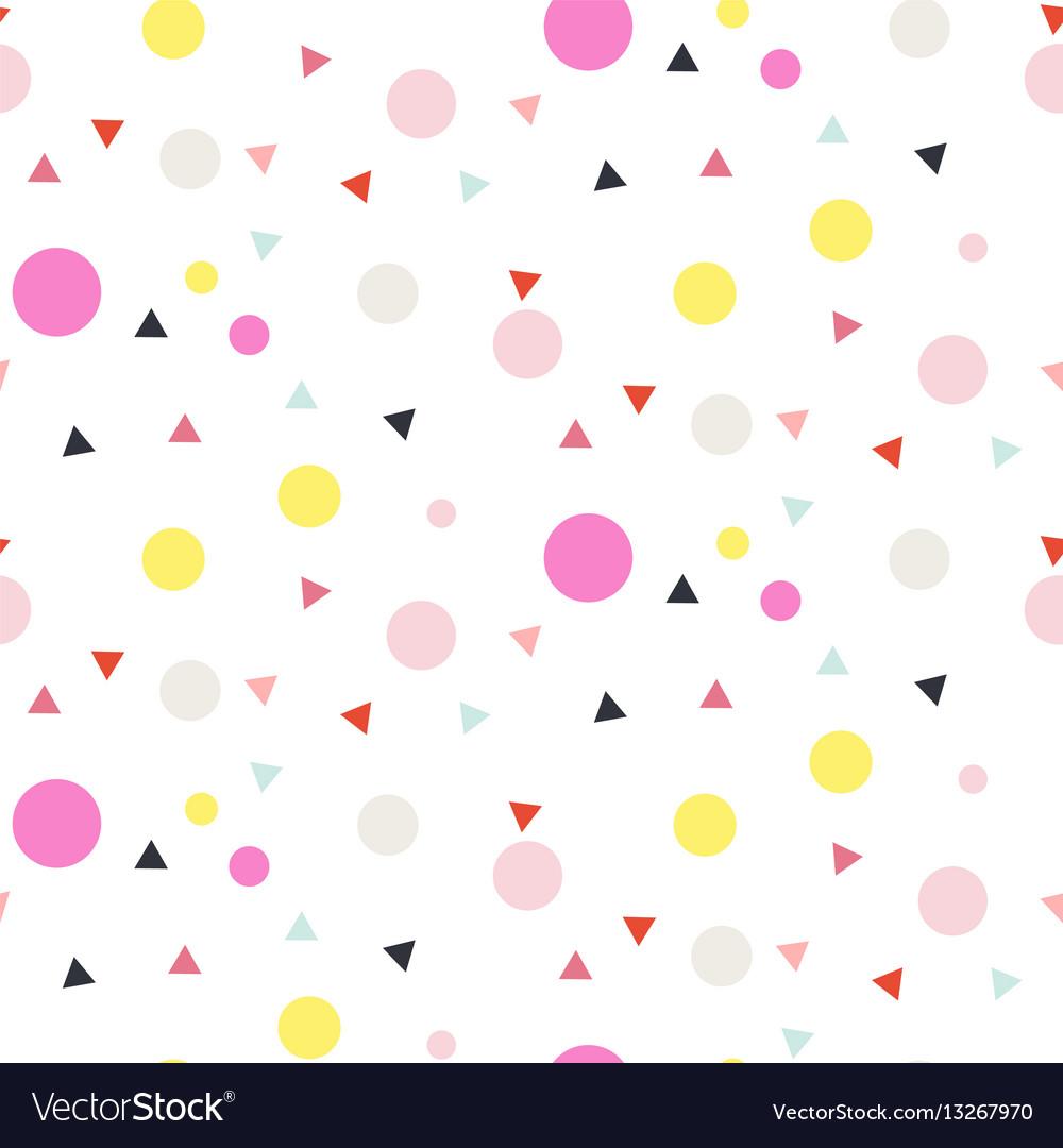 Confetti seamless white background vector image