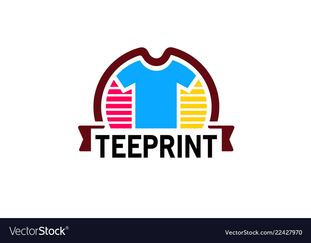 Creative colorful unique tee shirt design logo