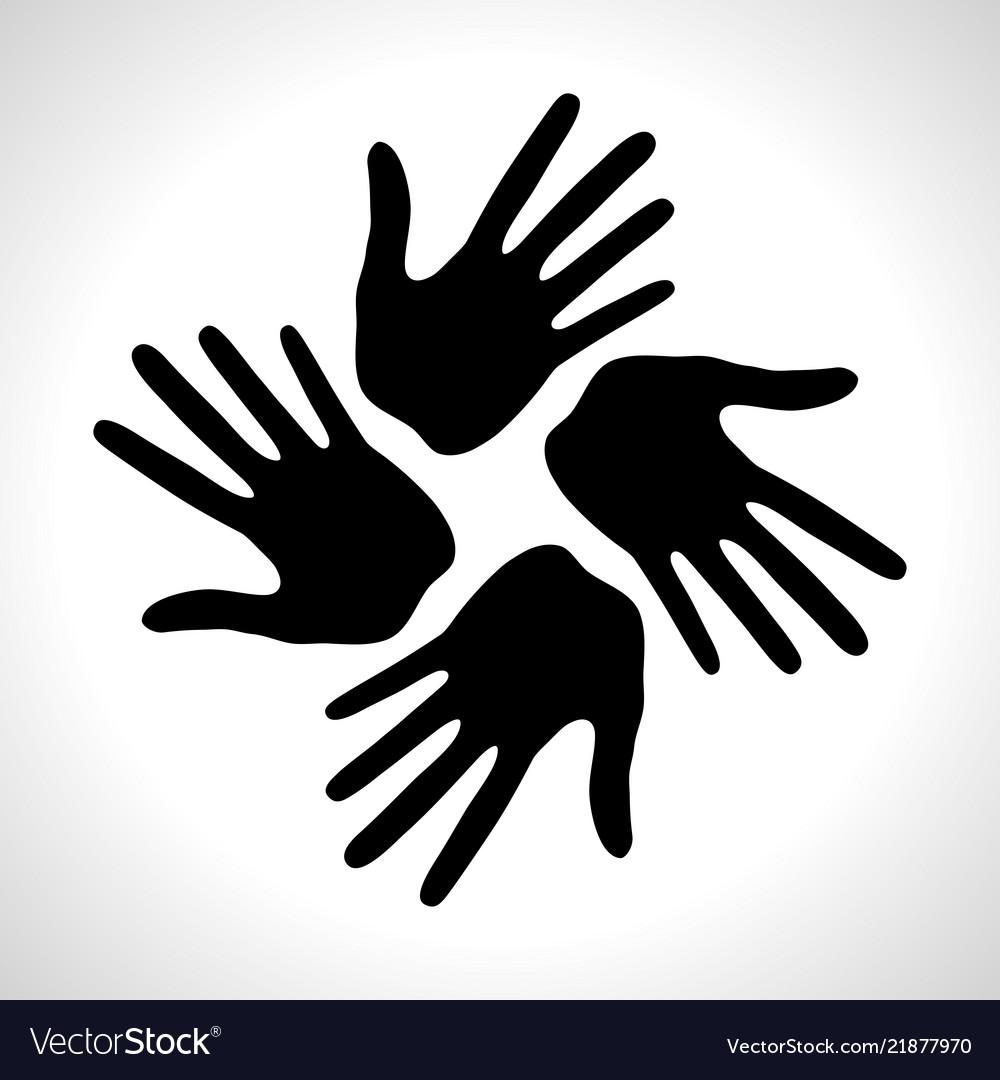 Hand print icon logo element
