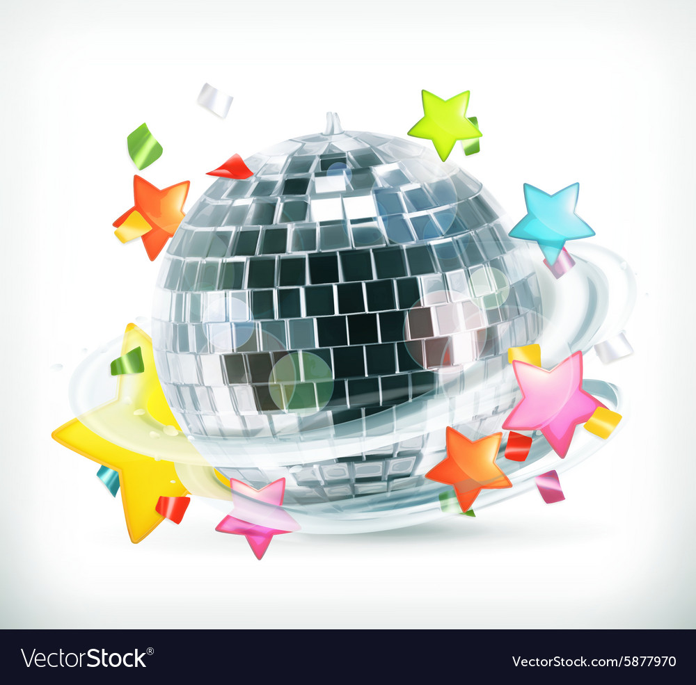 Party stars and disco ball icons