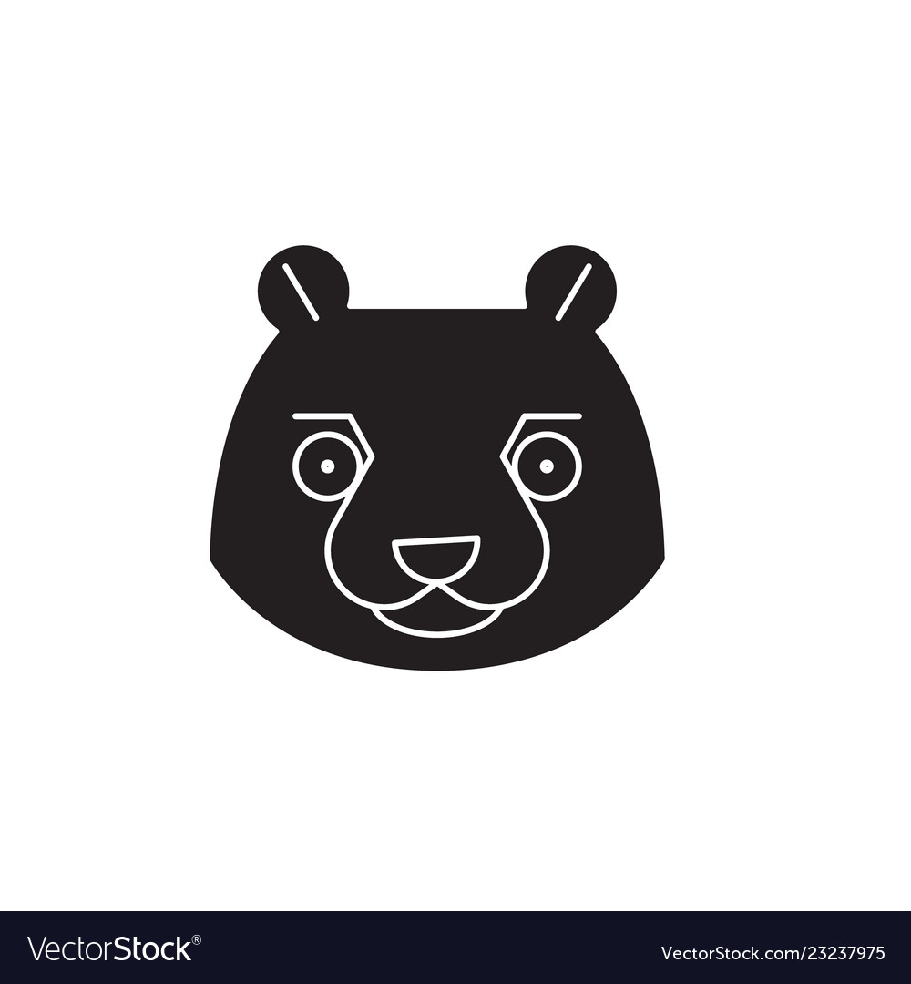Beaver head black concept icon beaver head