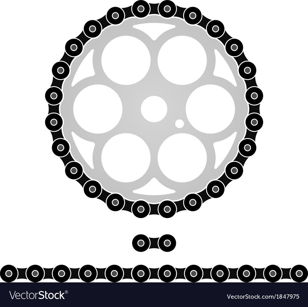 bicycle chain royalty free vector image vectorstock rh vectorstock com chain vector graphic chain vector logo