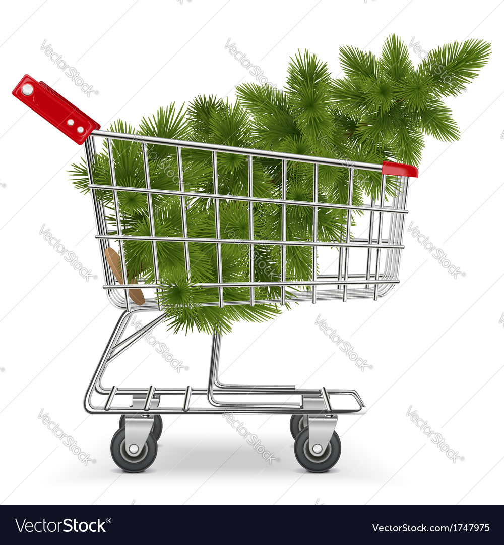 Cart with Christmas Tree