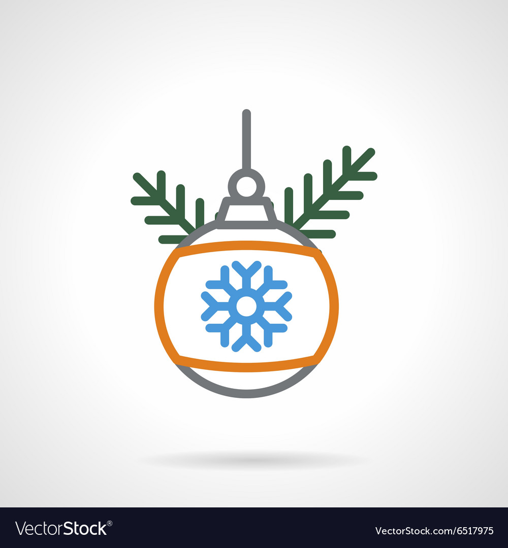 Christmas bauble color line icon