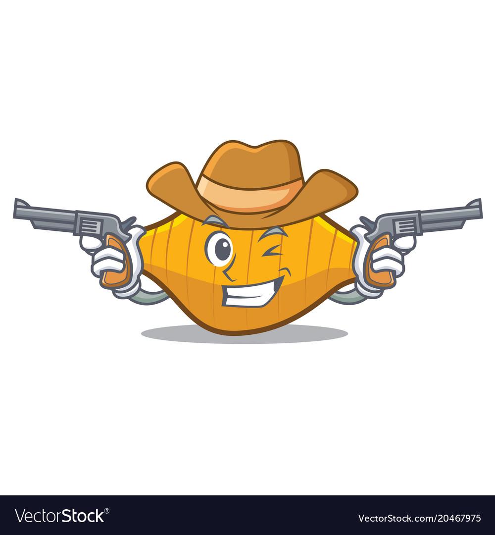 Cowboy conchiglie pasta character cartoon