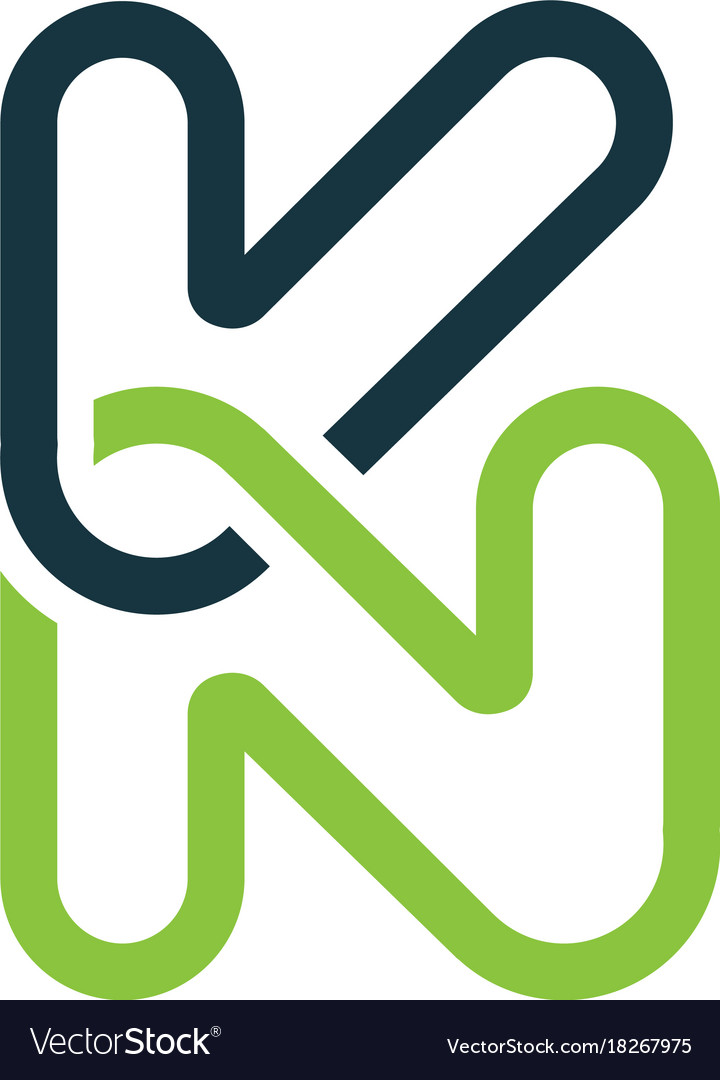 Creative letter kn logo