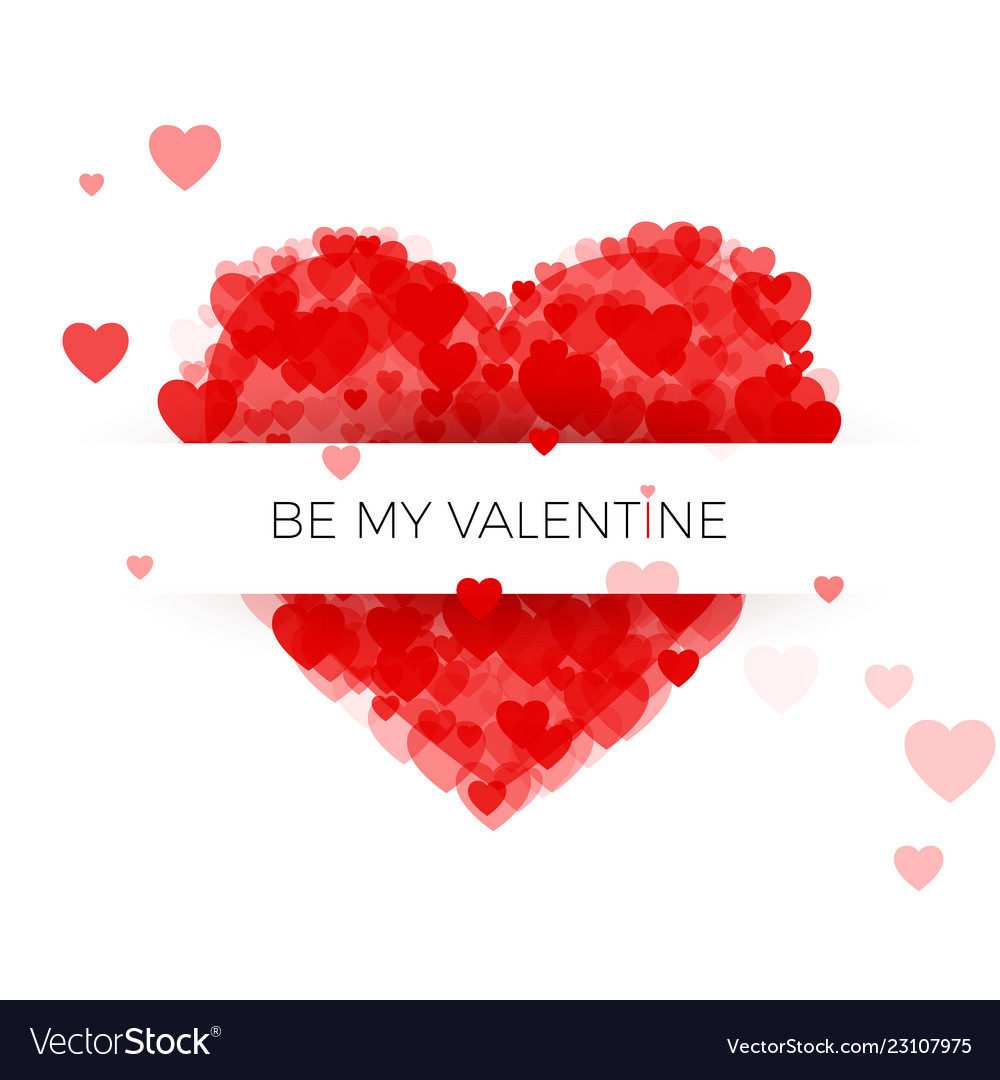 Happy valentines day greeting card cover template