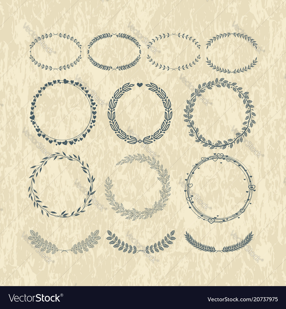 Laurels and wreaths design elements