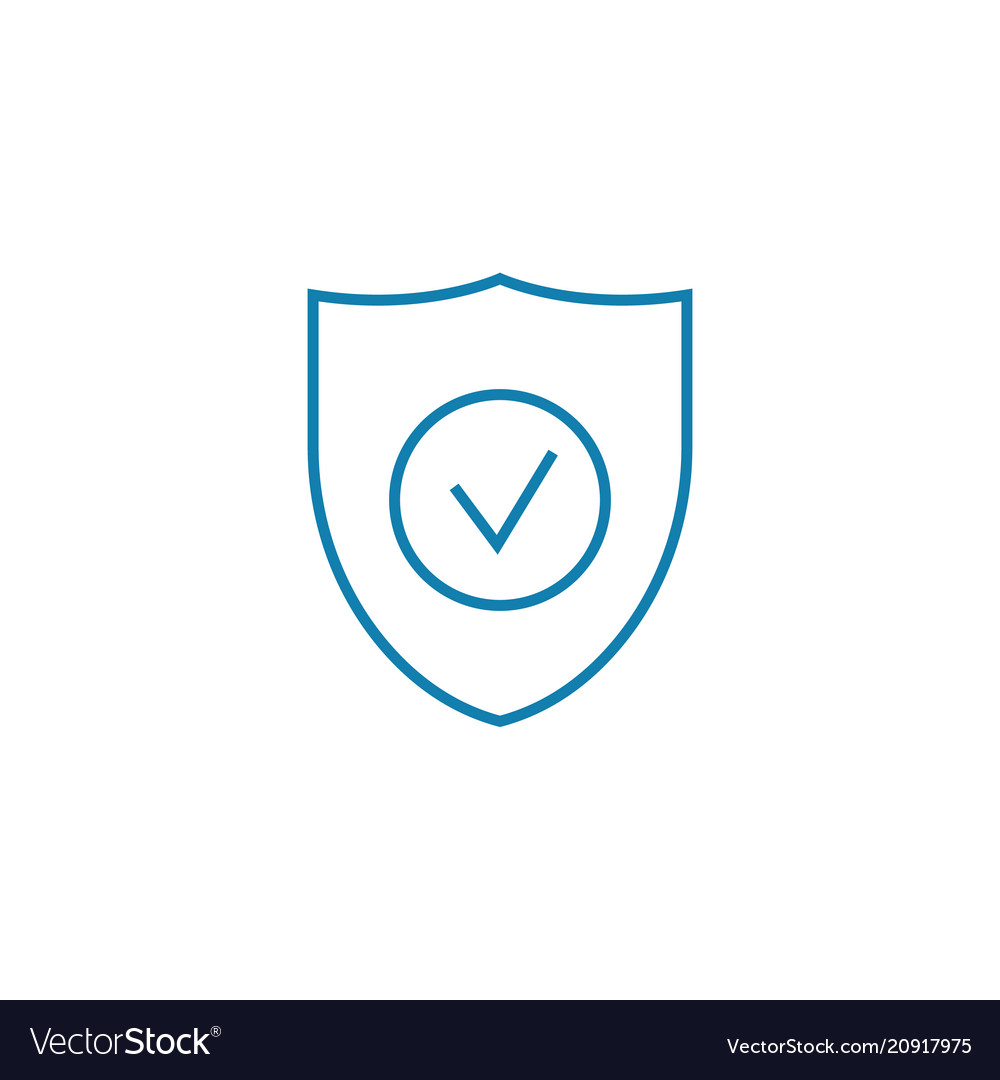 Safe web resource linear icon concept safe web
