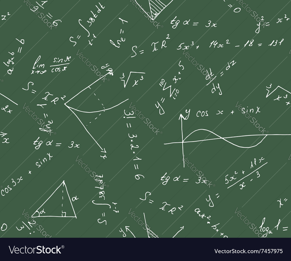seamless math background royalty free vector image