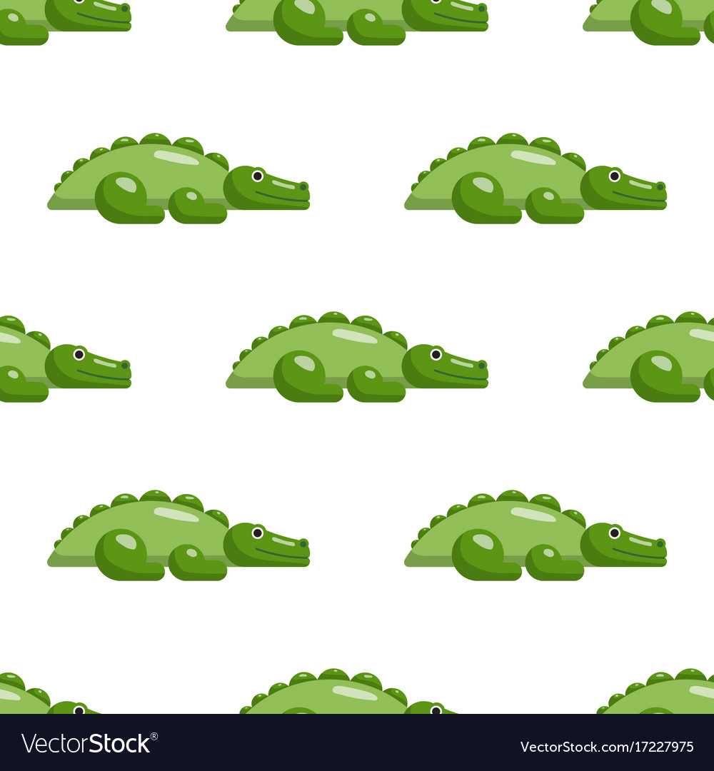 Seamless repeating pattern with crocodiles vector image