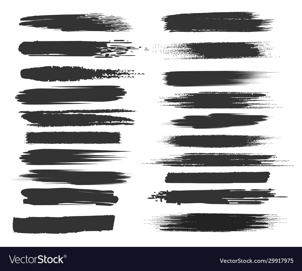Smudge black brushstrokes